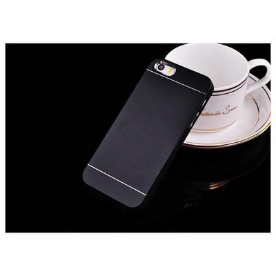 Microsonic Iphone Se Kılıf Hybrid Metal Siyah Cep Telefonu Kılıfı