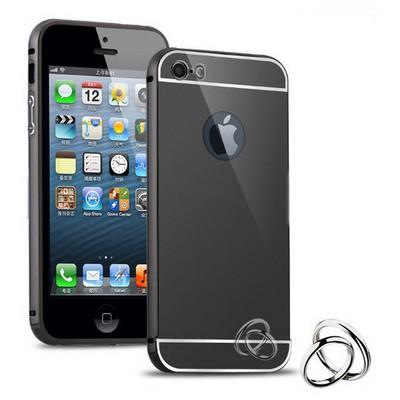 Microsonic Iphone Se Kılıf Luxury Mirror Siyah Cep Telefonu Kılıfı