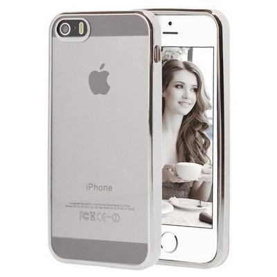 Microsonic Apple Iphone Se Kılıf Flexi Delux Gümüş Cep Telefonu Kılıfı