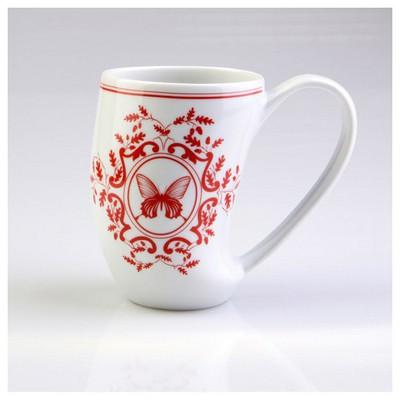 Arte Bianco Zeus 8848 Desen Mug Bardak Kırmızı Termos
