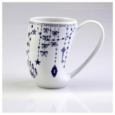 Arte Bianco Zeus 8849 Desen Mug Bardak Lacivert Bardak & Kupa