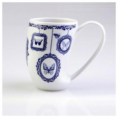 Arte Bianco Zeus 8850 Desen Mug Bardak Lacivert Bardak, Kupa, Sürahi