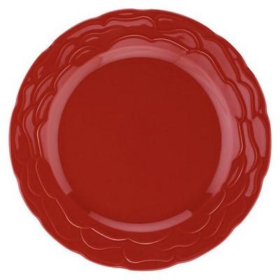 Naturaceram Natura Ceram Athena Servis Tabağı Kırmızı Servis Gereçleri