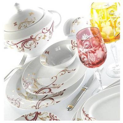 Kütahya Porselen 97 Parça 3955 Desen Yemek Takımı
