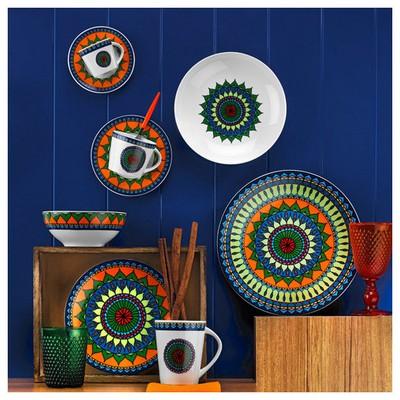 Kütahya Porselen 8982 Desen Mug Bardak Bardak, Kupa, Sürahi