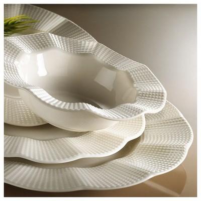 Kütahya Porselen Milena 24 Parça Krem Yemek Seti Yemek Takımı