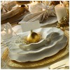 Kütahya Porselen Milena 24 Parça Krem Fileli Yemek Seti Tabak