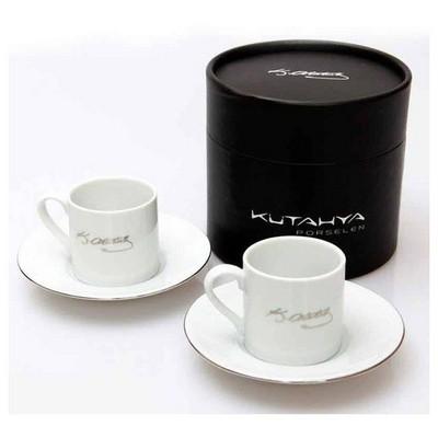 Kütahya Porselen Atatürk Imzalı Kahve Takımı Çay Seti