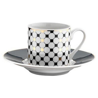 Kütahya Porselen Rüya Krem 9712 Desen Kahve Fincan Takımı Çay Seti