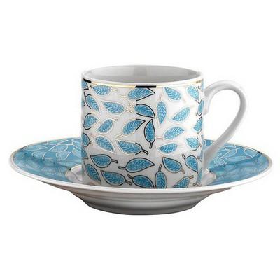 Kütahya Porselen Rüya 77491 Desen Kahve Fincan Takımı Çay Seti