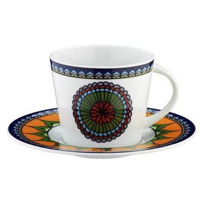 Kütahya Porselen 8982 Desen Kahve Fincanı Ve Tabağı Çay Seti