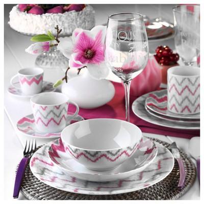 Kütahya Porselen 9132 Desen Kahve Fincanı Ve Tabağı Çay Seti