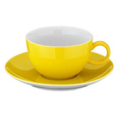Kütahya Porselen 12 Parça Kahve Takımı Sarı Çay Seti