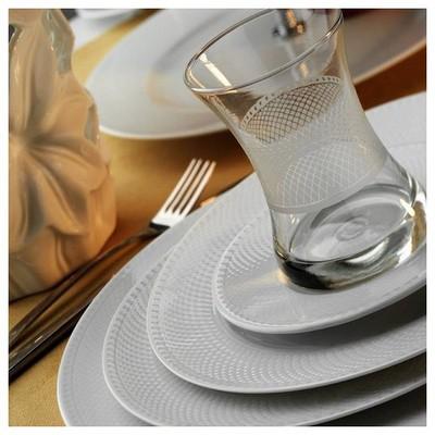 Kütahya Porselen Zümrüt 6 Kişilik Çay Takımı Çay Seti