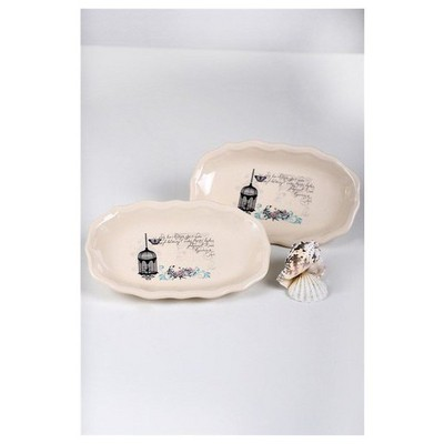 Keramika Kayık Romeo 19 Cm Krem 030 Retro Tabak