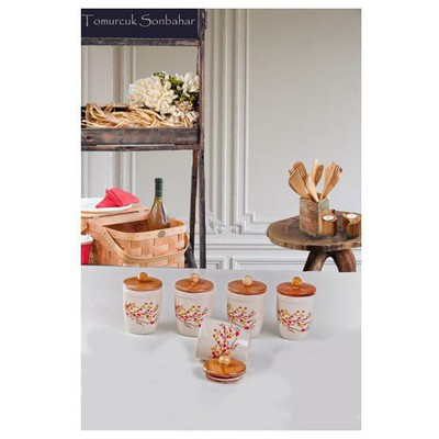 Keramika Takım Baharat Julıet 9 Cm Mat Transparan Beyaz 021 Sonbahar Tomurcuk Sofra Gereçleri