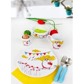 Keramika Takım Mama Ayıcık 4 Parca Beyaz 004 Summer Bırd A Yemek Takımı