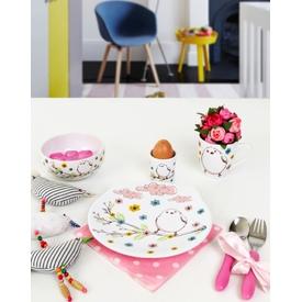 Keramika Takım Mama Ayıcık 4 Parca Beyaz 004 Sprıng Bırd A Yemek Takımı