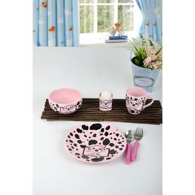 Keramika Takım Mama Ayıcık 4 Parca Pembe Acık 551 Dalmacyalı Pembe A Yemek Takımı