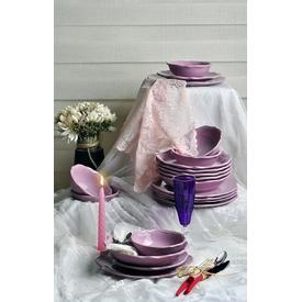 Keramika Takım Yemek Romeo 24 Parca Vıolet 451 A Yemek Takımı