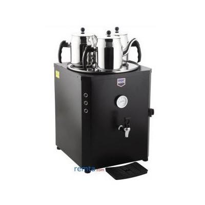 Remta De 10 Jumbo 3 Demlik Dahil Çay Makinesi Kare Siyah Çay Kazanı Endüstriyel Mutfak Aletleri