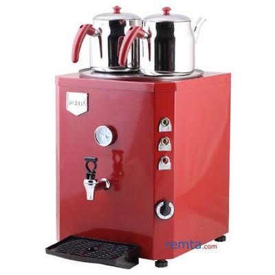 Remta De11 2 Demlikli Kırmızı Renkli Kare Jumbo Çay Kazanı Kabinli Endüstriyel Mutfak Aletleri
