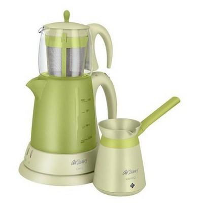 Arzum AR334 Ehlikeyif Yeşil Kahve Makineli Set Çay Makinesi