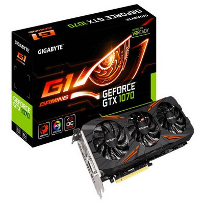Gigabyte GV-N1070G1 Gaming-8GD GTX 1070 8GB 256Bit Pci-E 3.0 Dx12 ATX G1 Gaming