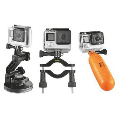 Trust Urban 21483 Aksıyon Kameraları Icın Multı Kıtı/ Xl Vakumlu Bağlantı- Bisiklet-motosiklet Bağlantı Aparatı Ve Suda Batmayan Şamandıra Aparatı Kamera Aksesuarı