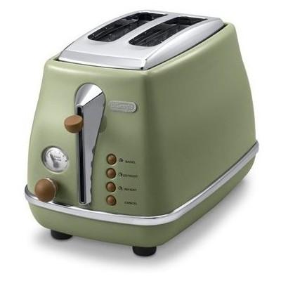 Delonghi CT0V2103.GR+BW Icona Serisi Ekmek Kızartma Makinesi - Yeşil