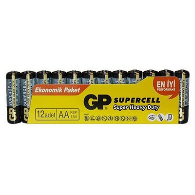 GP Supercell Aa Size Kalem Pil 12'li Paket Pil / Şarj Cihazı