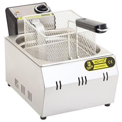 Remta R91 Tekli Fritöz Kapaklı Elektrikli Endüstriyel Mutfak Aletleri