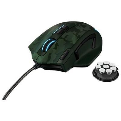 Trust GXT 155C Kablolu Gaming Mouse - Yeşil Kamuflaj (20853)