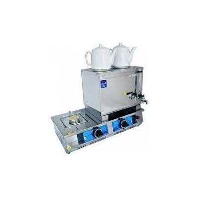Remta N17 Çift Demlikli Lpg Gazlı Elektrikli Kahveci Takımı Çay Makinesi