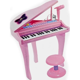 Vardem Mini Piyano 37 Tuşlu Pembe Eğitici Oyuncaklar
