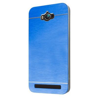 Microsonic Asus Zenfone Max 5.5 Inch Kılıf Hybrid Metal Mavi Cep Telefonu Kılıfı
