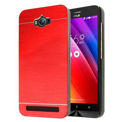 Microsonic Asus Zenfone Max 5.5 Inch Kılıf Hybrid Metal Kırmızı Cep Telefonu Kılıfı