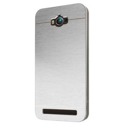 Microsonic Asus Zenfone Max 5.5 Inch Kılıf Hybrid Metal Gümüş Cep Telefonu Kılıfı