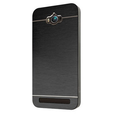 Microsonic Asus Zenfone Max 5.5 Inch Kılıf Hybrid Metal Siyah Cep Telefonu Kılıfı