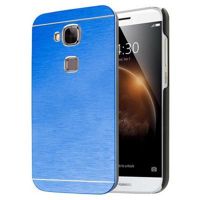 Microsonic Huawei G8 Kılıf Hybrid Metal Mavi Cep Telefonu Kılıfı