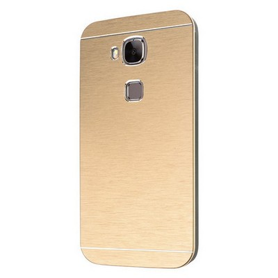 Microsonic Huawei G8 Kılıf Hybrid Metal Gold Cep Telefonu Kılıfı