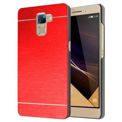 Microsonic Türk Telekom Huawei Honor 7 Kılıf Hybrid Metal Kırmızı Cep Telefonu Kılıfı