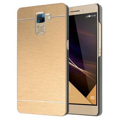 Microsonic Türk Telekom Huawei Honor 7 Kılıf Hybrid Metal Gold Cep Telefonu Kılıfı