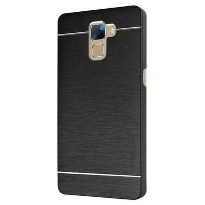 Microsonic Türk Telekom Huawei Honor 7 Kılıf Hybrid Metal Siyah Cep Telefonu Kılıfı