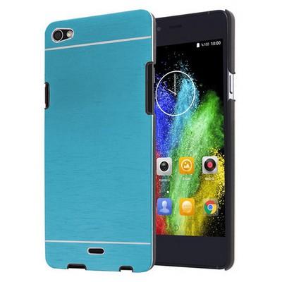 Microsonic Casper Via V10 Kılıf Hybrid Metal Mavi Cep Telefonu Kılıfı