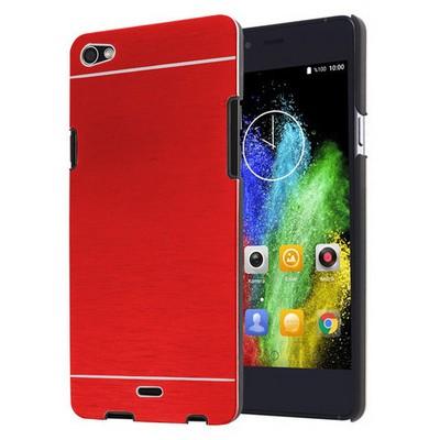 Microsonic Casper Via V10 Kılıf Hybrid Metal Kırmızı Cep Telefonu Kılıfı