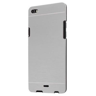Microsonic Casper Via V10 Kılıf Hybrid Metal Gümüş Cep Telefonu Kılıfı