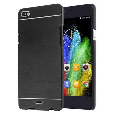 Microsonic Casper Via V10 Kılıf Hybrid Metal Siyah Cep Telefonu Kılıfı