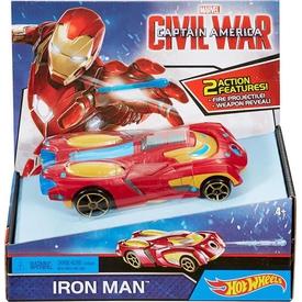 Hot Wheels Marvel Civil War Iron Man Araç Seti Erkek Çocuk Oyuncakları