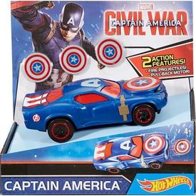 Hot Wheels Marvel Civil War Captain America Araç Seti Arabalar